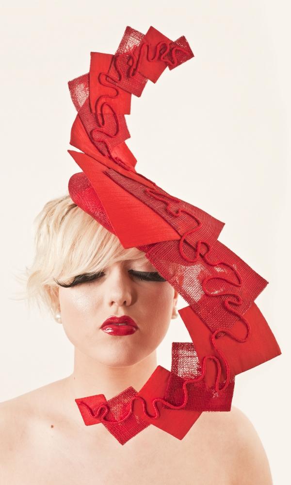 Female model photo shoot of GingerBread Hats