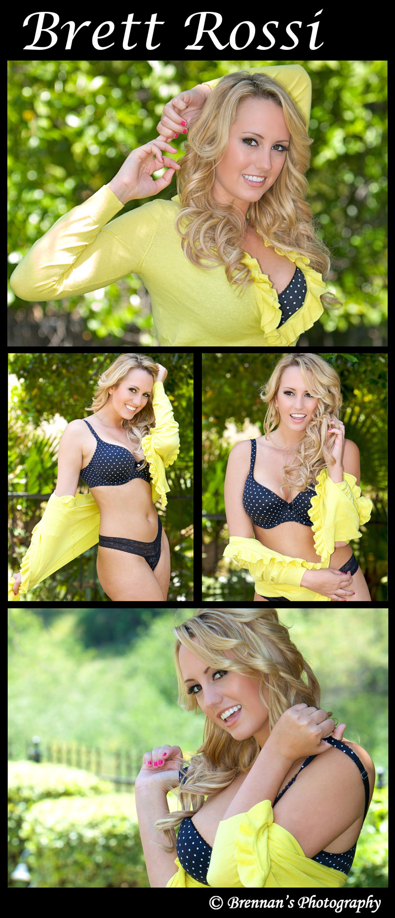 Riverside May 30, 2011 Brennans Photography Bretts Yellow N Black Series (Penthouse Pet of the Month - Feb. 2012)