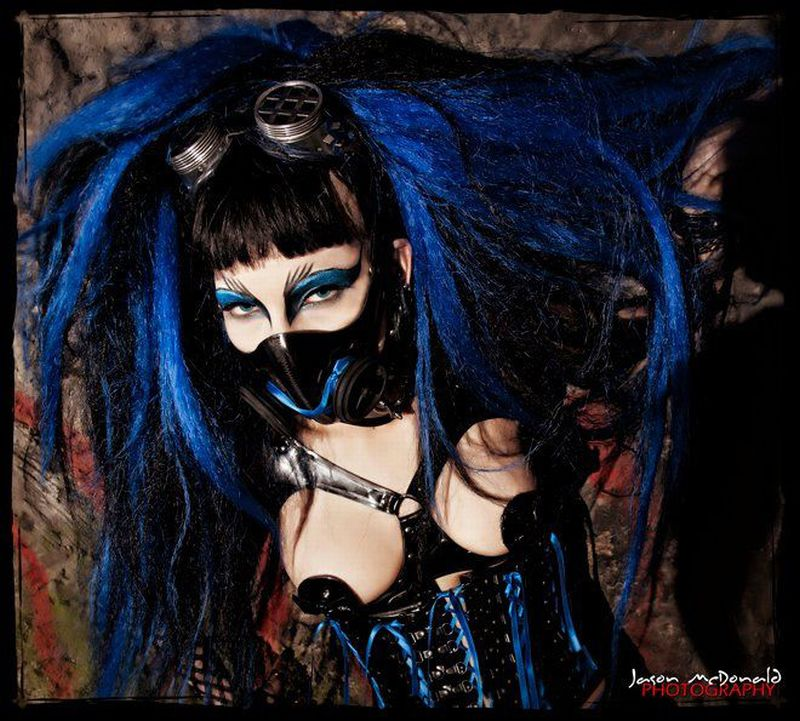 Female model photo shoot of Kerrie Matthews and Spunky_Gore by JMCD PHOTOGRAPHY in hellfire club