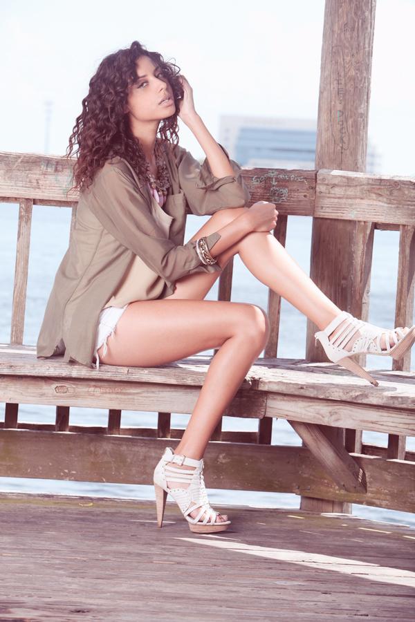 Female model photo shoot of Yvette Fernandes, wardrobe styled by aoifec