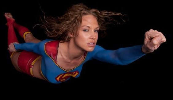 OrlandOrlando Florida, Face and Body Paint International Convention Jun 04, 2011 Jay Bautista - body paint Super Girl
