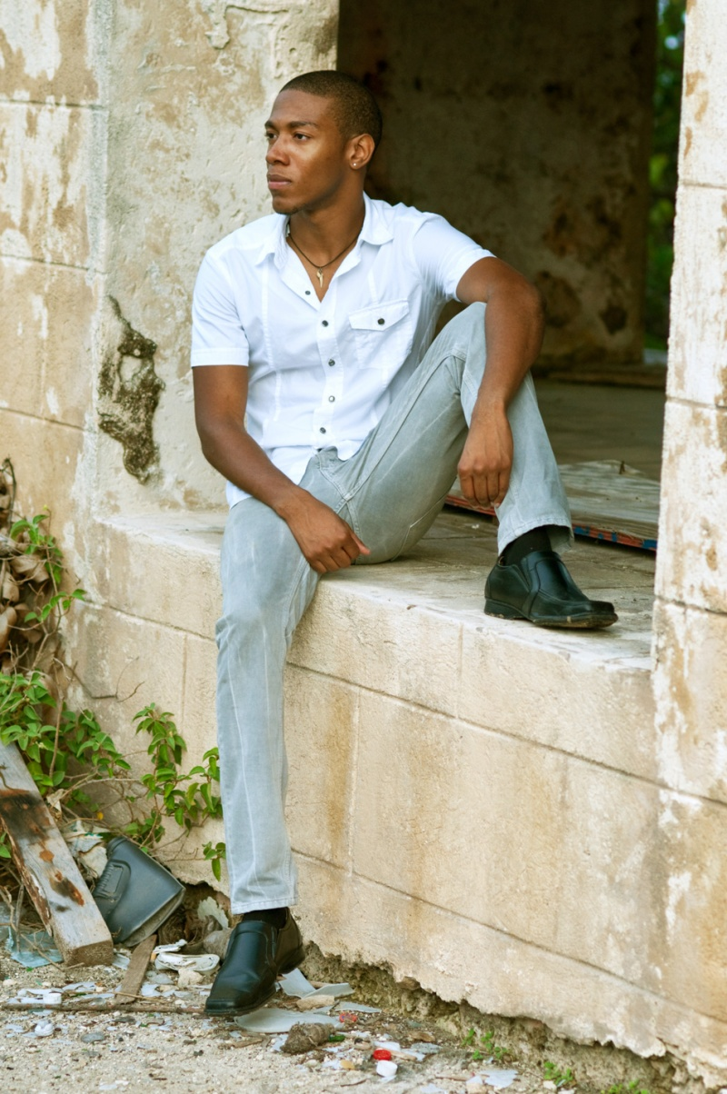 Female and Male model photo shoot of Yomisola and Leynad in Barbados
