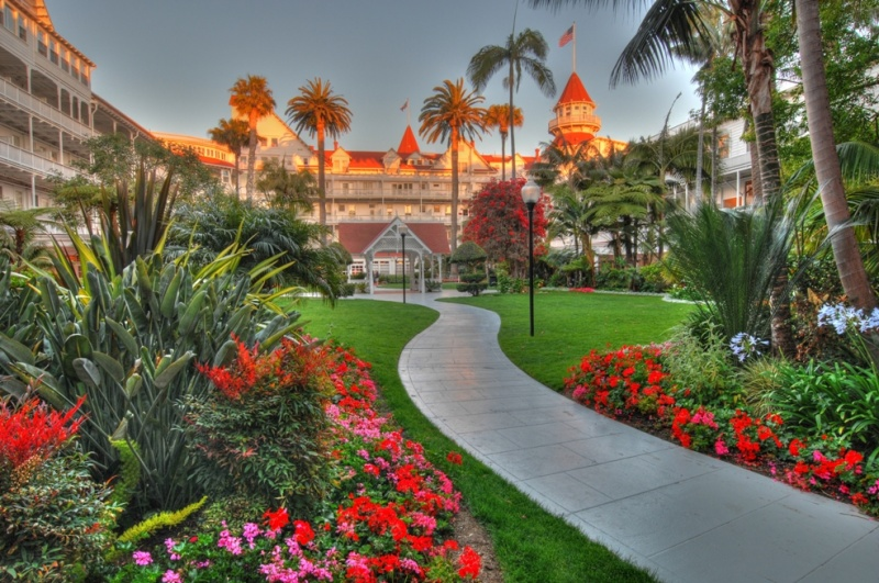 Coronado Island, San Diego, California, USA Jun 05, 2011 HD Photo Tours Hotel De. Coronado Courtyard