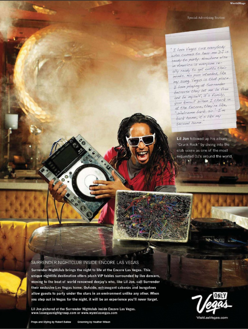 Las Vegas Jun 06, 2011 Prometheus Global 2011 Las Vegas Spotlight: Lil Jon Q&A | Billboard Magazine Photoshoot