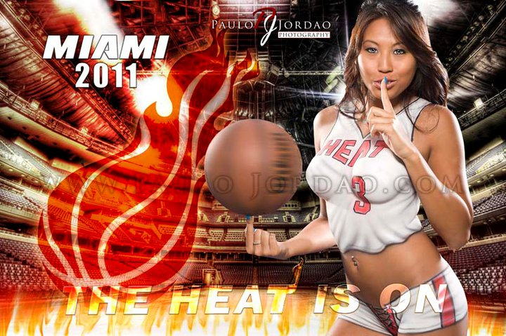 Studio Jun 06, 2011 Paulo Jordao Lets go MIAMI HEAT!! bodypaint