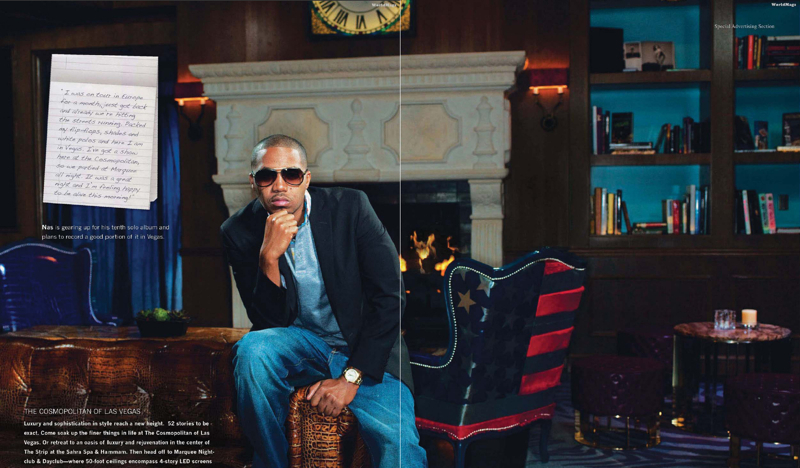 Las Vegas Jun 06, 2011 Prometheus Global 2011 Las Vegas Spotlight: Nas Q&A | Billboard Magazine Photoshoot
