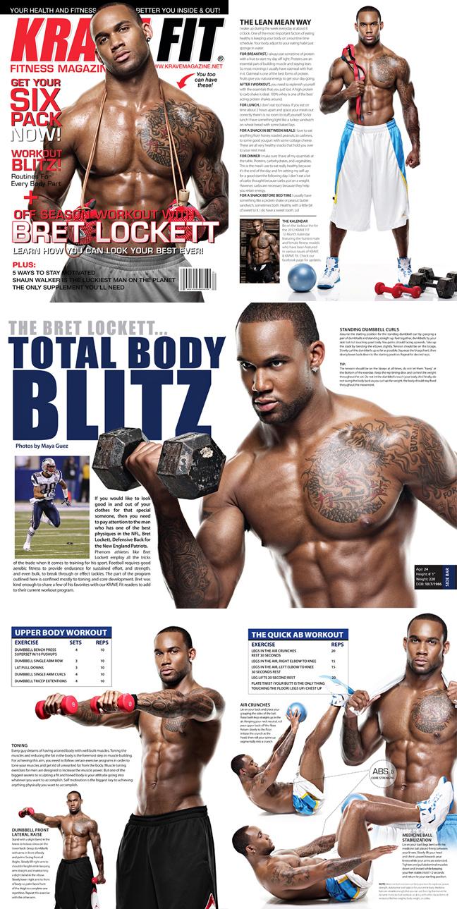 NYC STUDIO Jun 08, 2011 (c) Maya Guez Bret Lockett NFL player for the New England Patriots in KRAVE FIT magazine spread SEE MORE AT: mayaguezart.blogspot.com