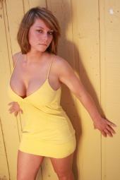 Yellow dress girl model mayhem