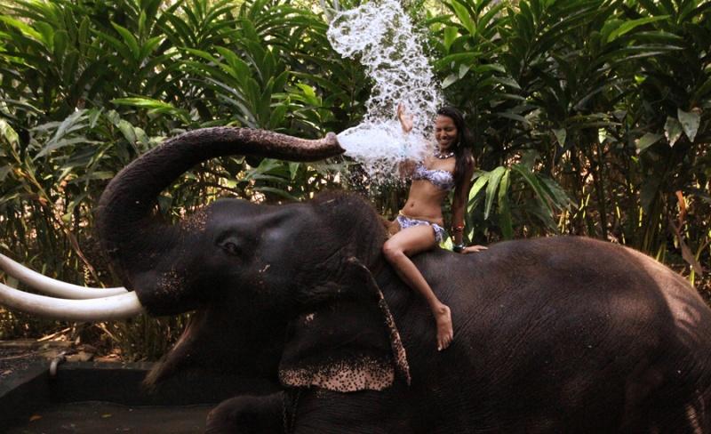 Kerala, India Jun 19, 2011 Moment of Magic .. Shape of Shapeless Water