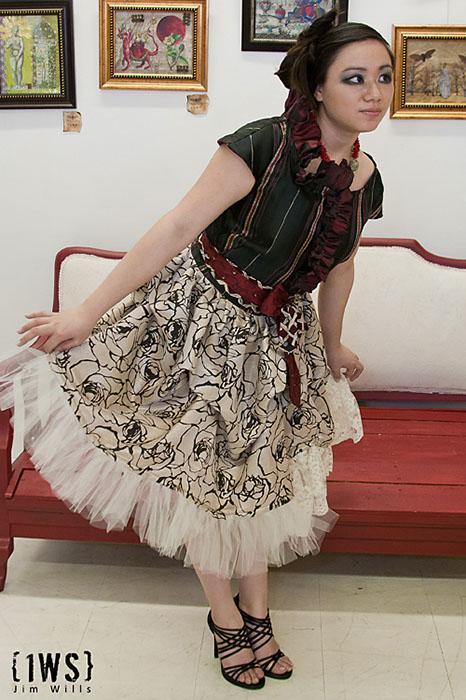 Female model photo shoot of Kaye Isythea, clothing designed by Francis Roces