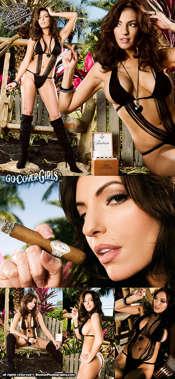 Private Cabana Jun 27, 2011 GoCoverGirls / Benhur Photography Camacho Cigars Calendar