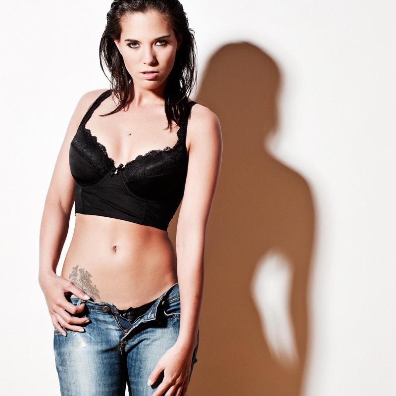 Female model photo shoot of model-aletha in studio