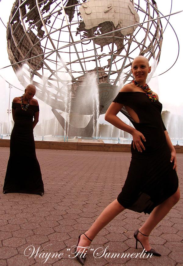 earth Jun 30, 2011 Wayne Fli Summerlin05 Sharon and Milan bald and beautiful !  World fair grounds NY 1964