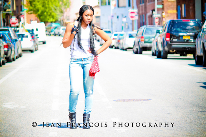 Female model photo shoot of Oge by Jean-Francois Photo