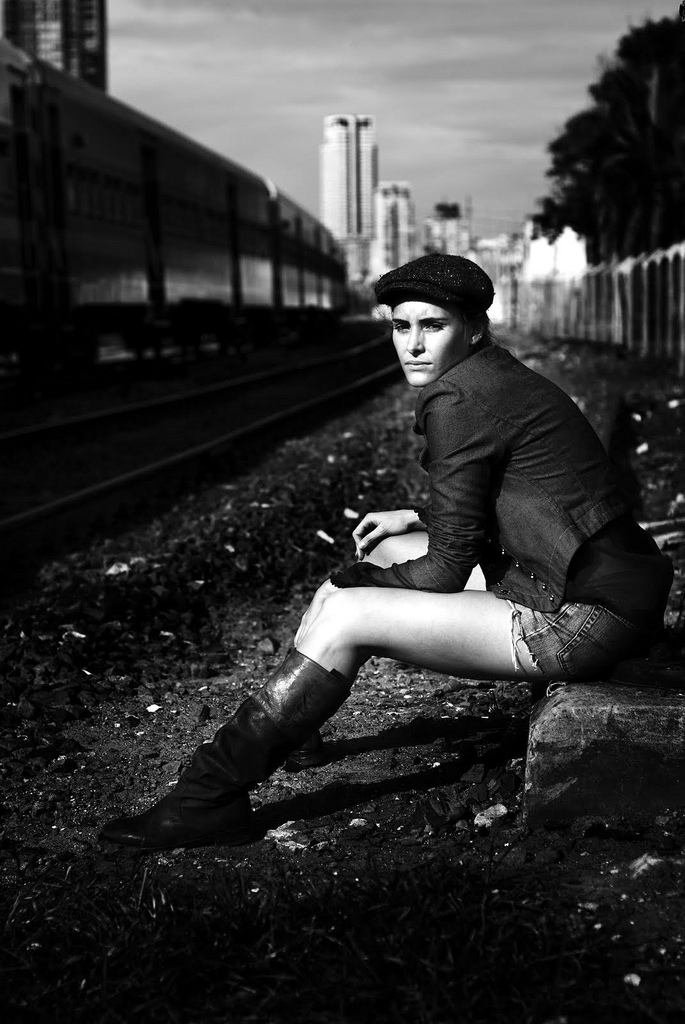 Male and Female model photo shoot of delfo and Natalia Raurell