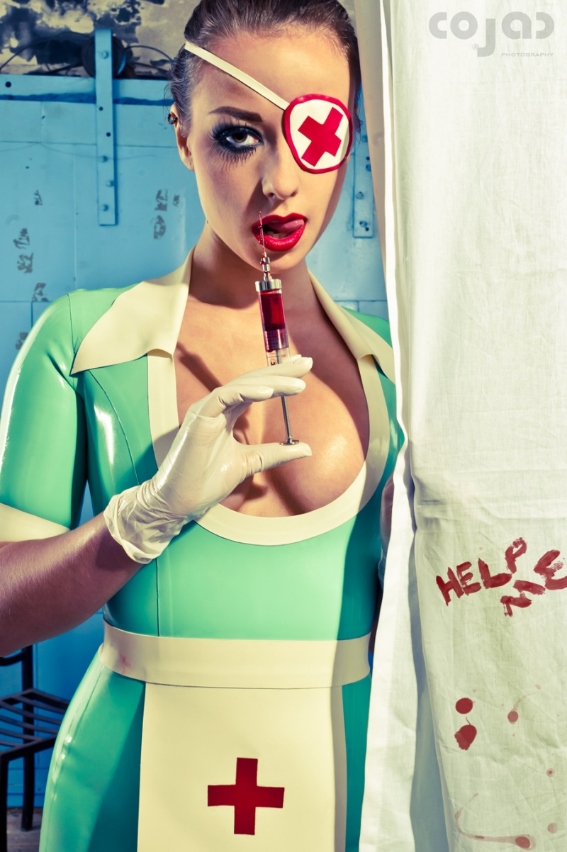 Vlaardingen Jul 04, 2011 coJac-photography Helloooooooooooooo Nurse!!!! Lotte posing in a nursedress by RuBear