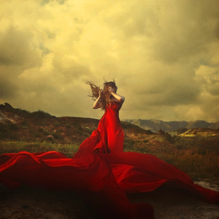 "Jul 05, 2011 Brooke Shaden Self portrait - ""A Storm to Move Mountains"""