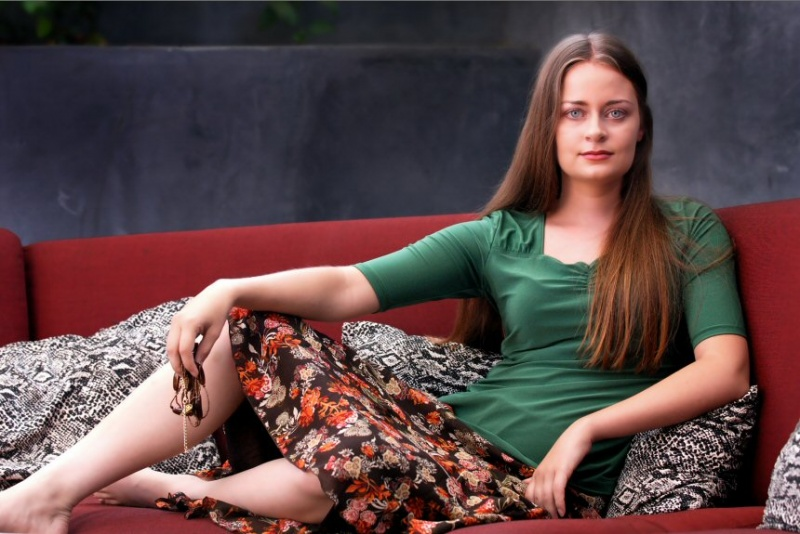 Female model photo shoot of PuzzleBox