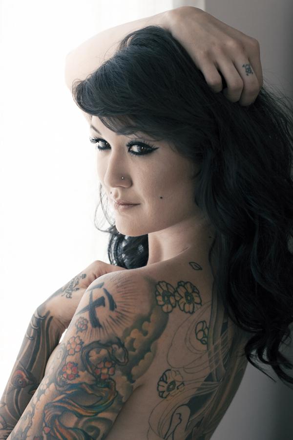 Female model photo shoot of La_Lauren Nicole by Shane Noir, makeup by La Lauren