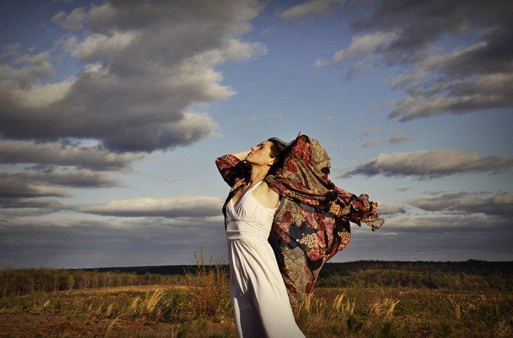 Female model photo shoot of Tiffanyrivera434 by No One in yogaville