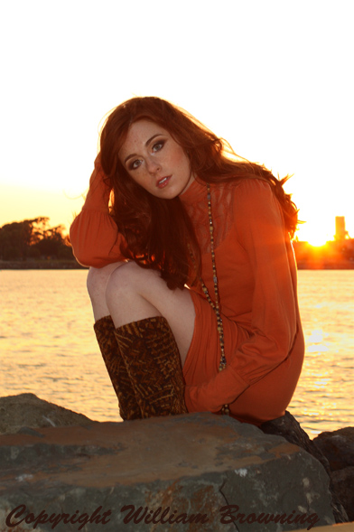 Male and Female model photo shoot of William Browning and Anna K Mason by William Browning in Long Beach, CA