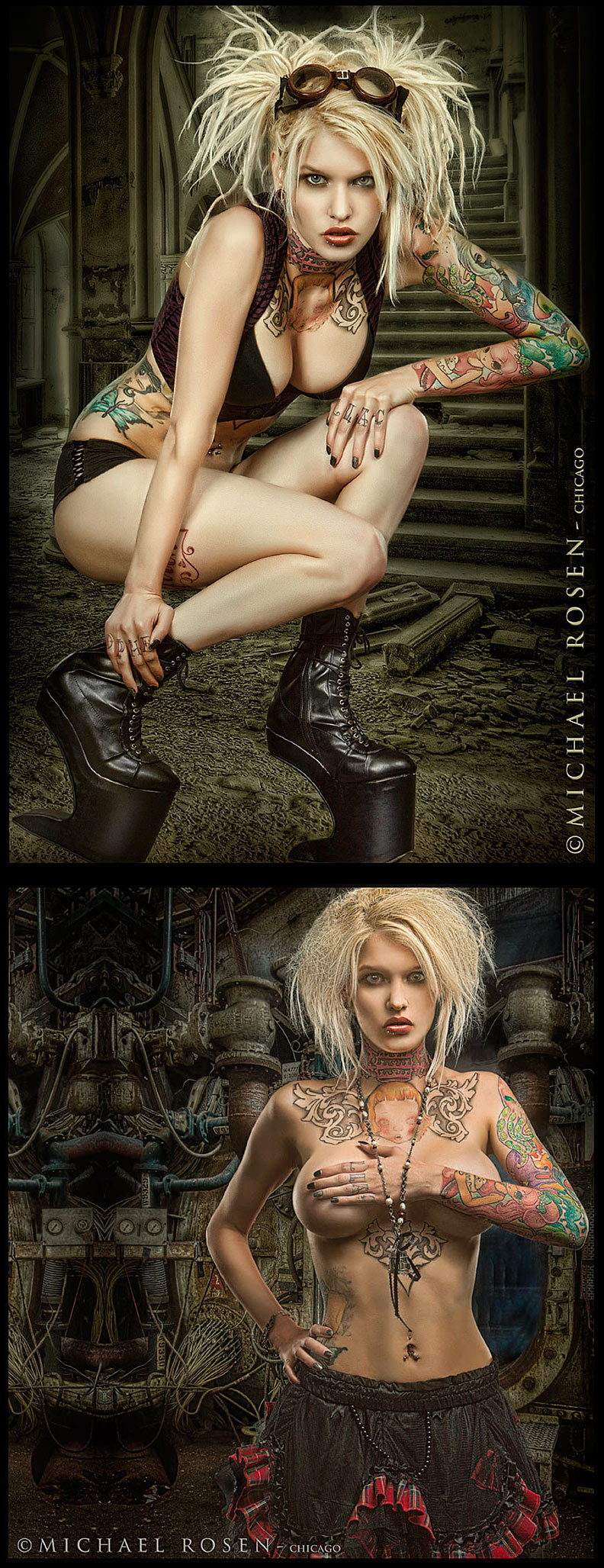 Male and Female model photo shoot of Michael Rosen - Chicago and Alloy Ash in Chicago
