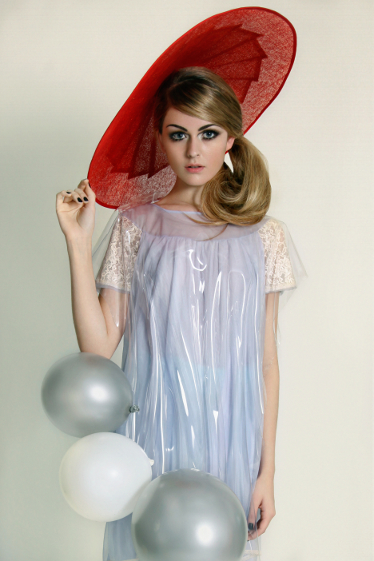 Female model photo shoot of GingerBread Hats, wardrobe styled by Holly Barber