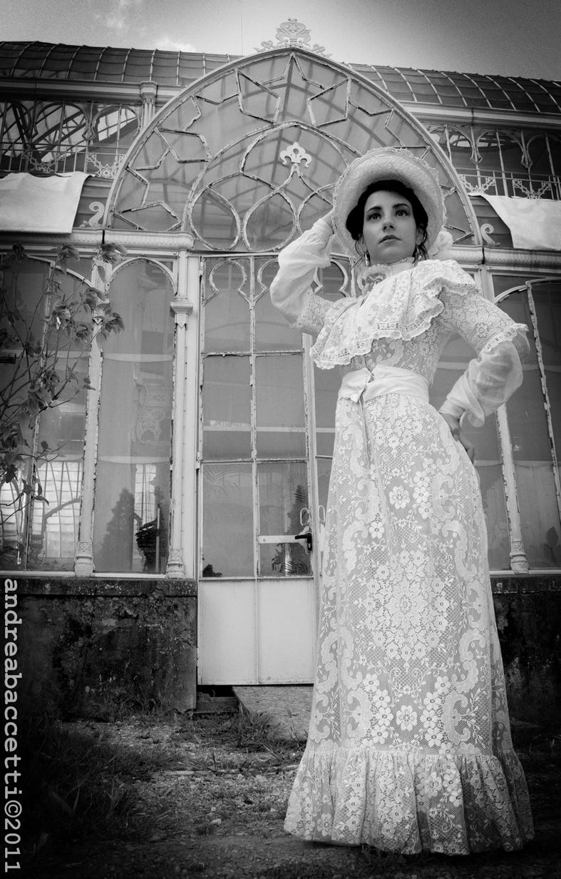Female model photo shoot of Maison Bizarre by Andrea Baccetti