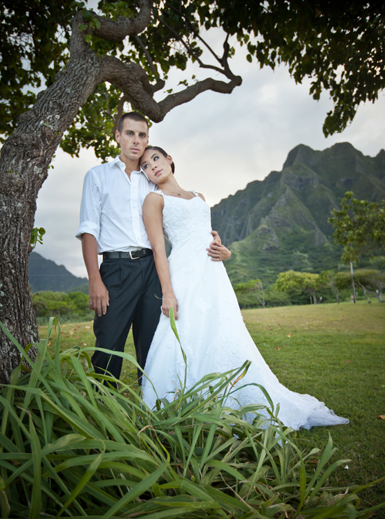 Male and Female model photo shoot of Corey Fearing and SydVicious by Tomek  in oahu hawaii, makeup by shy Mena