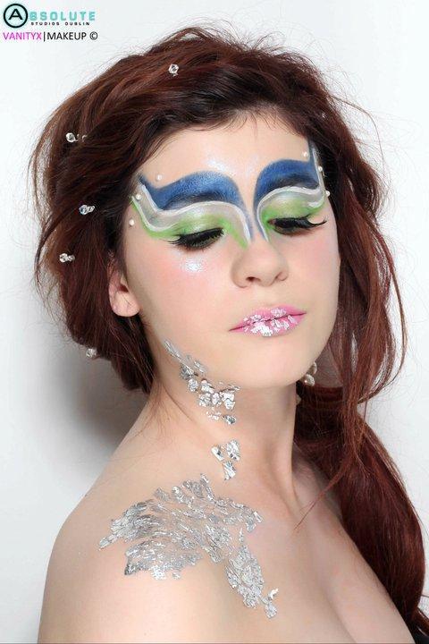 Female model photo shoot of Aishling Clarke Makeup in Location: VanityX