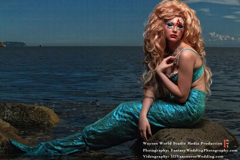 Vancouver, Canada Jul 22, 2011 Waynes World Studio Media Production Fantasy Mermaid Collection Series