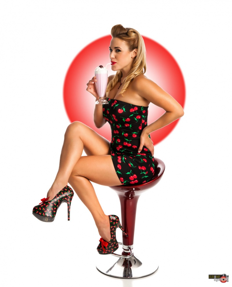studio Jul 24, 2011 Robert Fousch Black cherry print mini dress