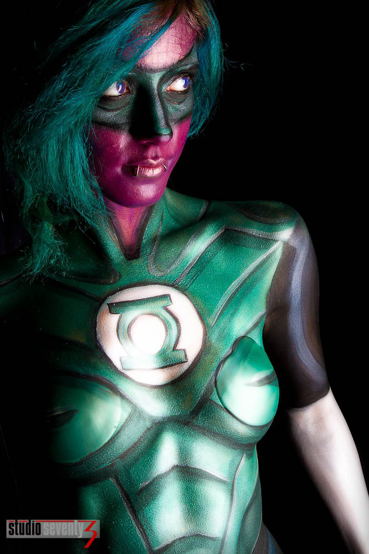 Chandler, AZ Jul 25, 2011 Studio Seventy 3 Green Lantern Body Paint