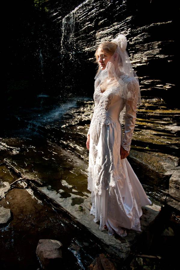 Female model photo shoot of Amy Jem by Vincent J Tosto in Fillmore Glen State Park