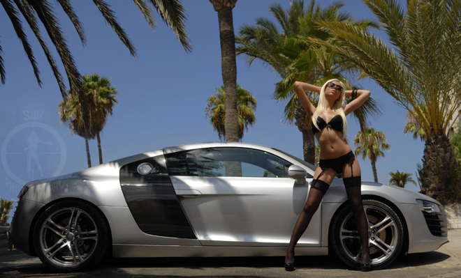 las americas tenerife  Jul 27, 2011 sjhphotography  Audi R8 and a visiting model