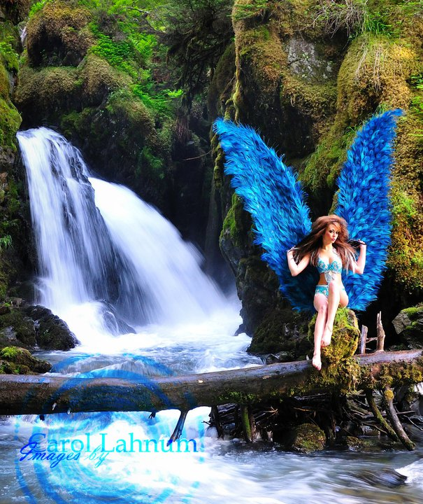 Waterfall in Girdwood, AK Jul 29, 2011 Carol Lahnum Custom wings made by me
