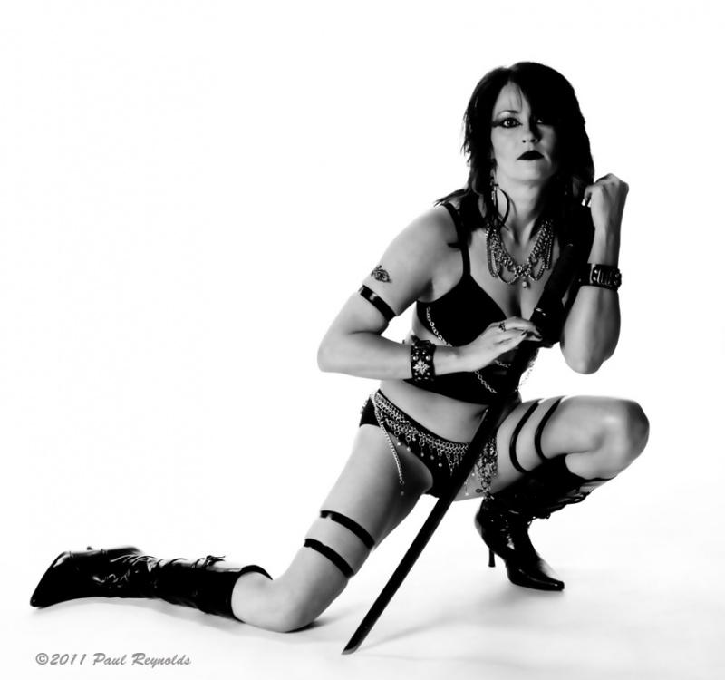 """My Hartselle studio Jul 30, 2011 ©2011 Paul Reynolds Lynn, the """"Warrior Queen"""""""