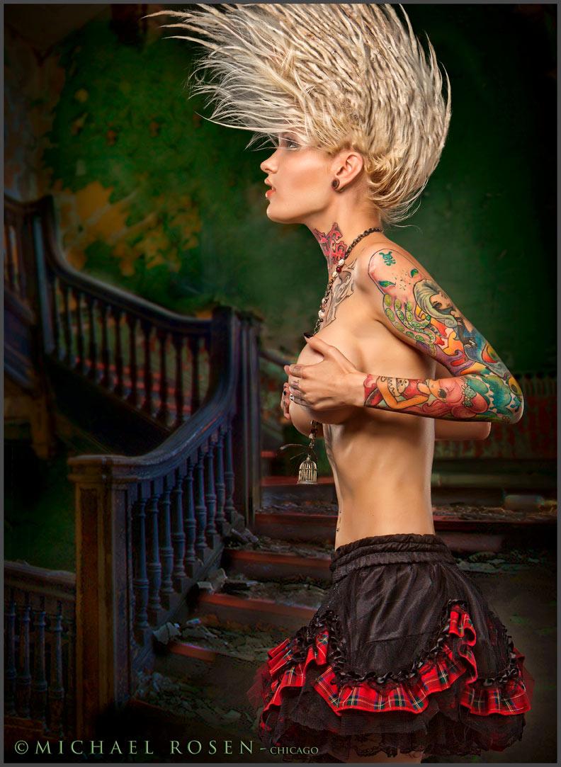 Male and Female model photo shoot of Michael Rosen - Chicago and Alloy Ash in Michael Rosen Studio - Chicago