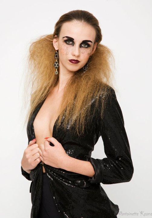 Female model photo shoot of Aishling Clarke Makeup by Antoinette Keane