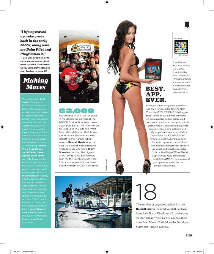 Aug 02, 2011 Miss Transworld Wakeboarding App Ad
