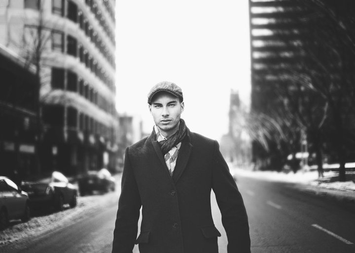 Male model photo shoot of CALEB  I  M FISCHER in Downtown Edmonton