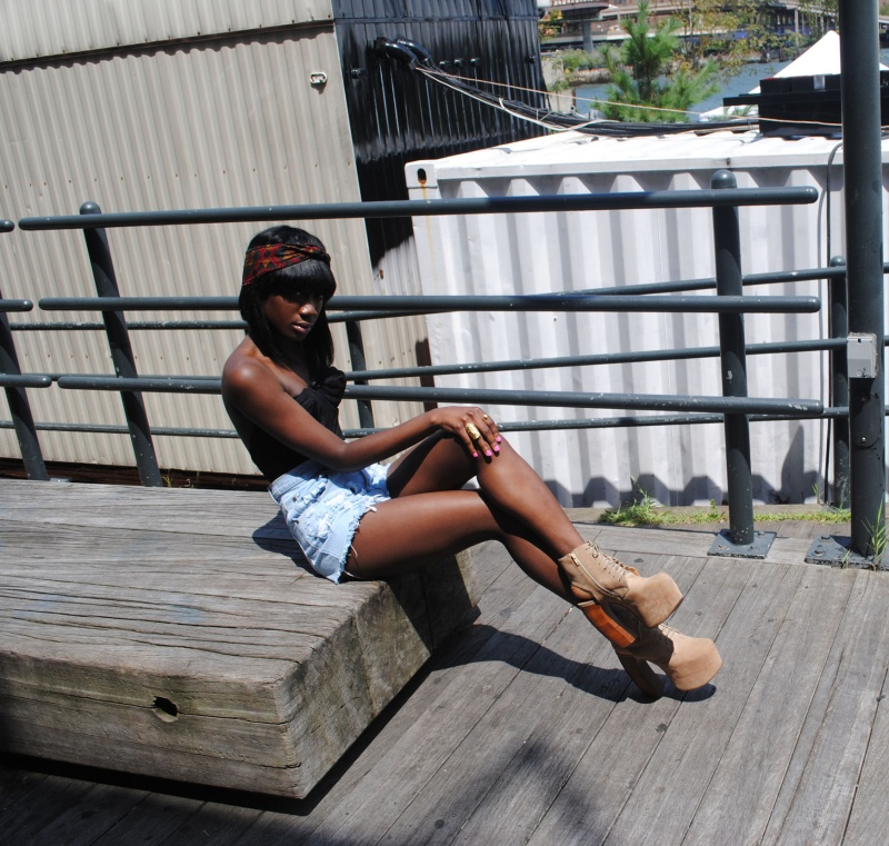 Male and Female model photo shoot of TJ Watkins Enterprises and Alexis Kwabea in South Street Seaport