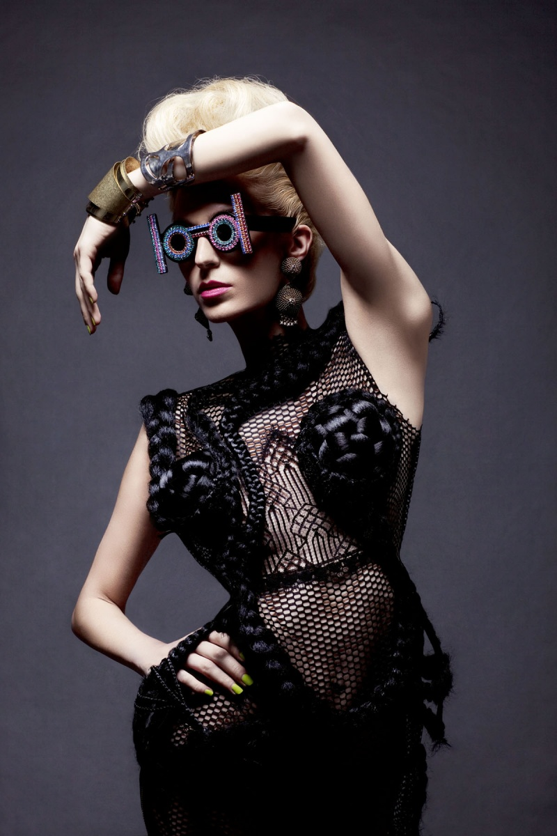 Female model photo shoot of Haus of YBA in NYC