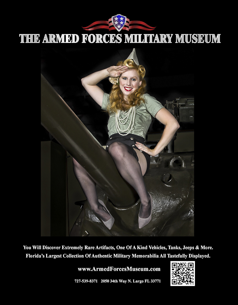 Armed Forces Military Museum in Largo Florida Aug 09, 2011 © 2011 James Houck - Main Street Studios 2012 Pinup Calendar Magazine Ad - Kaye