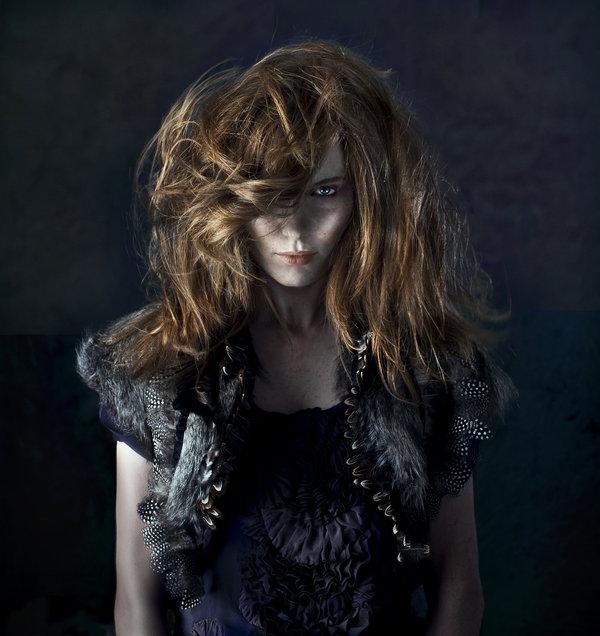London Aug 13, 2011 Vicky Demetriou (Daniel Hersheson) Hair Shoot