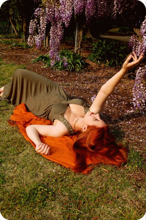 Female model photo shoot of Felspar in JC Raulston Arboretum, Raleigh NC
