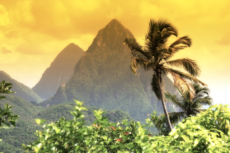 Soufriere Aug 21, 2011 Rich4Tune photography division of Rich4Tune inc  2011 landscape. Pina colada sky