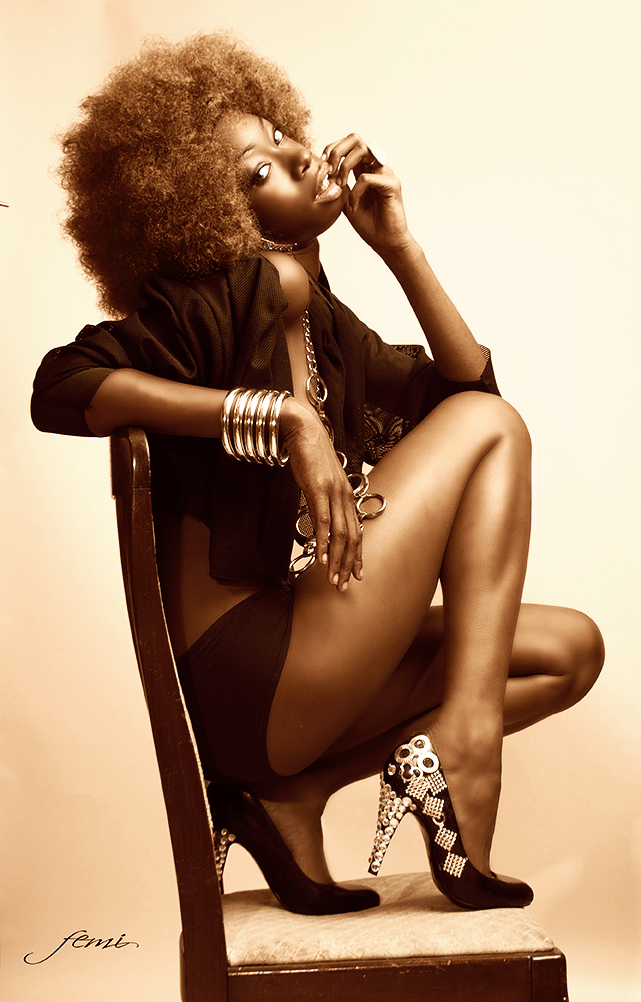 west side studio Aug 23, 2011 femi photography I love this woman! Love the shoes I made : )