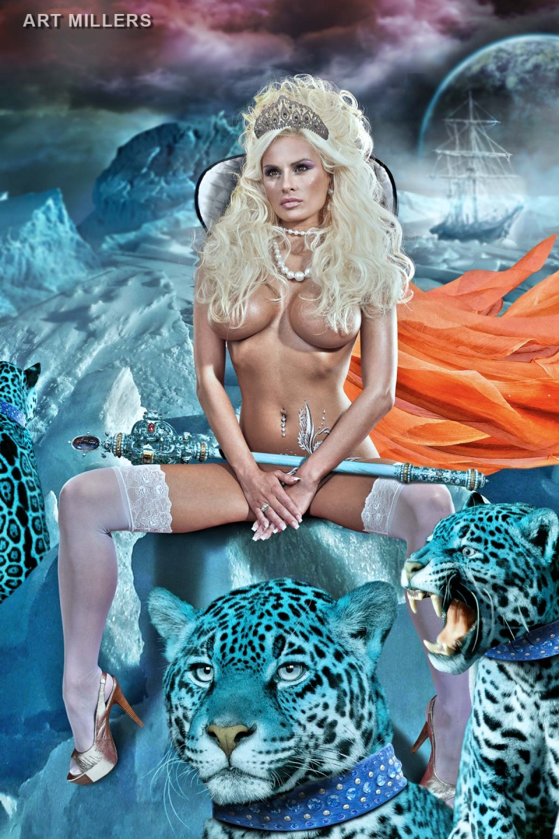 Milwaukee studio Aug 24, 2011 ArtMillers I like to work with Kristy Ann.... in this time she is Ice Queen