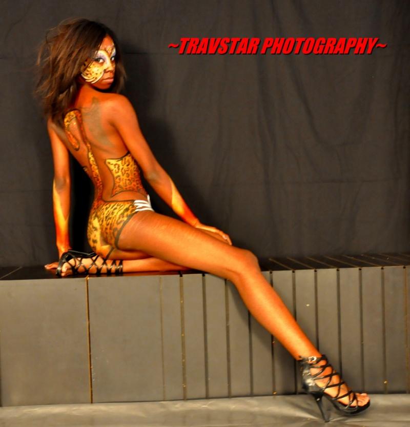 Female model photo shoot of Kourtney Kae by TRAVSTAR PHOTOGRAPHY, body painted by alex body art